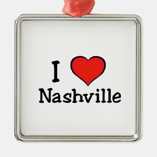 I Love Nashville Christmas Tree Ornaments