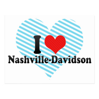 I Love Nashville-Davidson Post Card