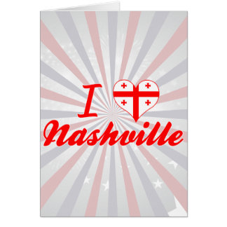 I Love Nashville, Georgia Greeting Card