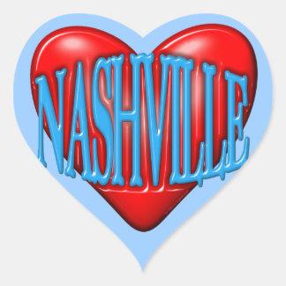 I Love Nashville Heart Sticker