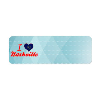 I Love Nashville, Indiana Custom Return Address Label