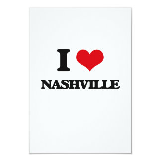 I love Nashville Personalized Invitation