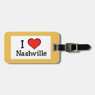 I Love Nashville Luggage Tag