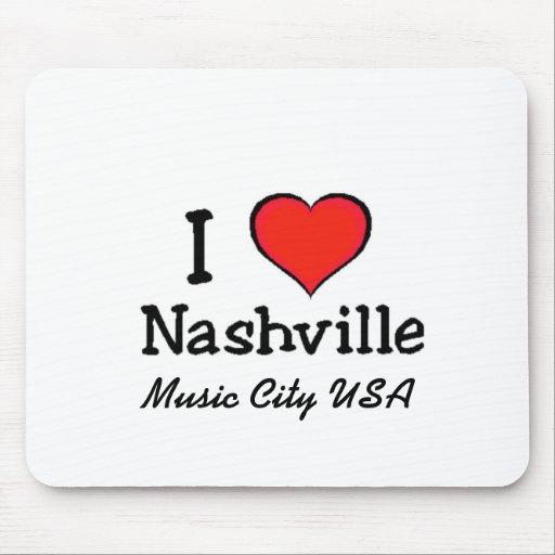 I Love Nashville Mouse Pads