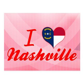 I Love Nashville, North Carolina Postcard