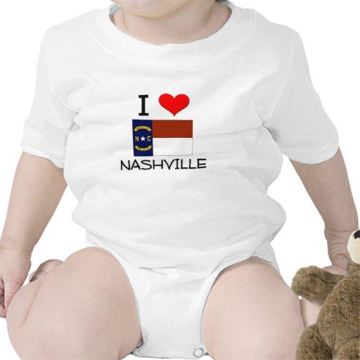 I Love Nashville North Carolina Tshirt