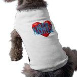 I Love Nashville Pet T-shirt