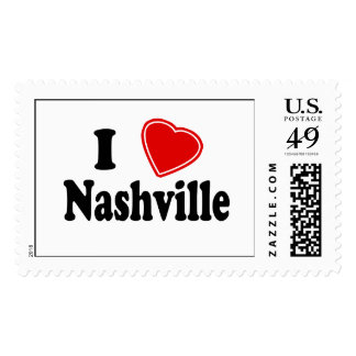 I Love Nashville Postage Stamps