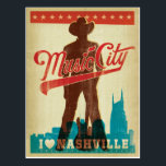 "I Love Nashville Postcard<br><div class=""desc"">Anderson Design Group is an award-winning illustration and design firm in Nashville,  Tennessee. Founder Joel Anderson directs a team of talented artists to create original poster art that looks like classic vintage advertising prints from the 1920s to the 1960s.</div>"