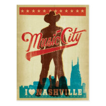 I Love Nashville Postcard