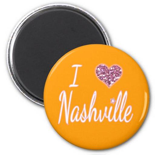 I Love Nashville Refrigerator Magnets