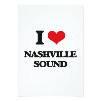 I Love NASHVILLE SOUND Custom Announcement Card