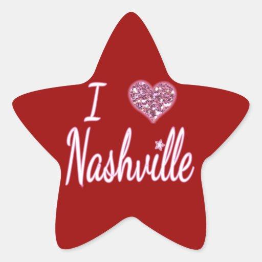 I Love Nashville Star Sticker