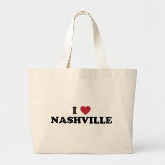 I Love Nashville Tennessee Large Tote Bag