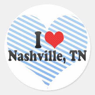 I Love Nashville, TN Classic Round Sticker