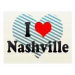 I Love Nashville, United States Postcard
