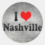 I Love Nashville, United States Classic Round Sticker