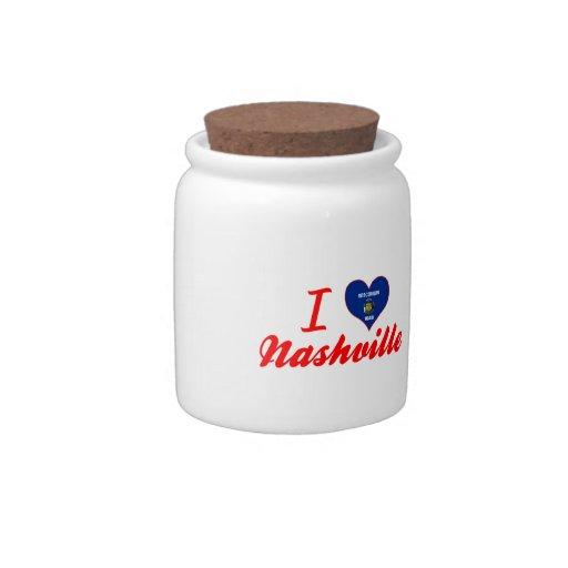 I Love Nashville, Wisconsin Candy Jars