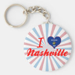I Love Nashville, Wisconsin Keychains
