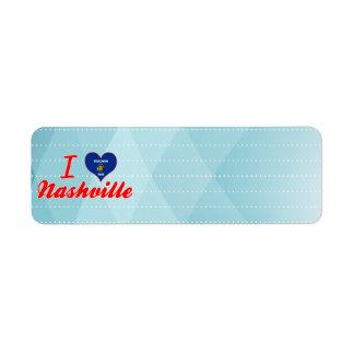 I Love Nashville, Wisconsin Custom Return Address Labels