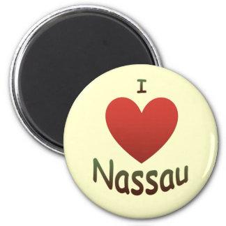 I Love Nassau 2 Inch Round Magnet