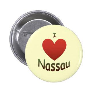 I Love Nassau 2 Inch Round Button