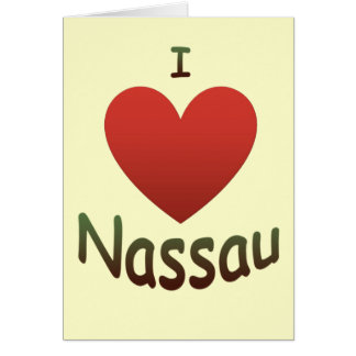 I Love Nassau Card