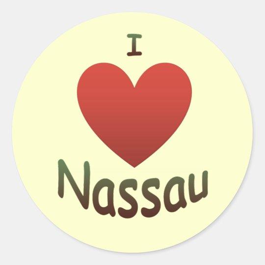 I Love Nassau Classic Round Sticker