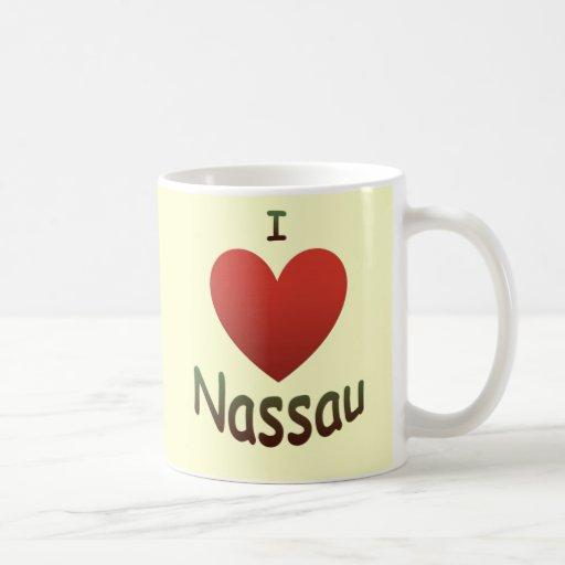 I Love Nassau Classic White Coffee Mug