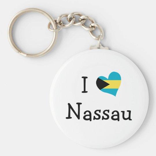 I Love Nassau Keychain
