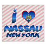 I love Nassau, New York Posters