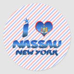 I love Nassau, New York Round Stickers