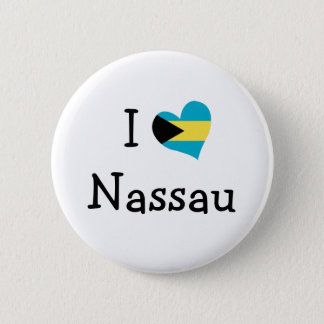 I Love Nassau Pinback Button