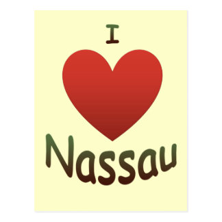 I Love Nassau Postcard