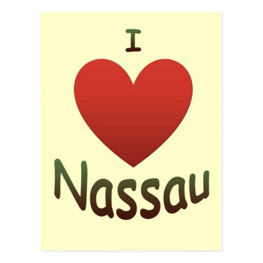 I Love Nassau Postcard