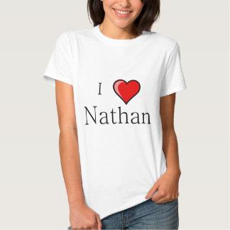 I Love Nathan T Shirt