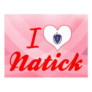 I Love Natick, Massachusetts Postcard