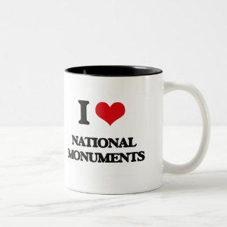 I Love National Monuments Two-Tone Coffee Mug