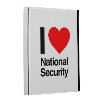 i love national security iPad case
