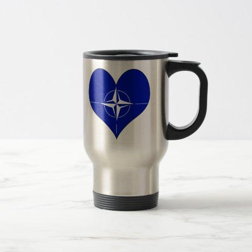 I Love Nato 15 Oz Stainless Steel Travel Mug