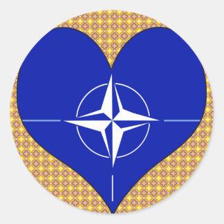 I Love Nato Classic Round Sticker