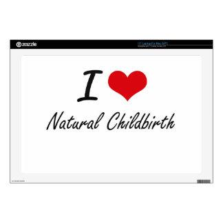 I Love Natural Childbirth Laptop Skins