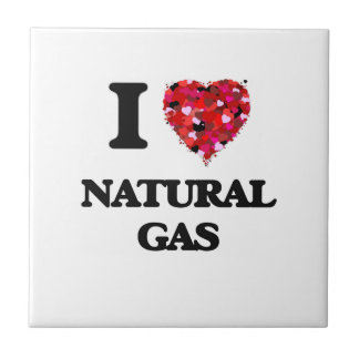 I Love Natural Gas Small Square Tile