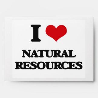 I Love Natural Resources Envelopes