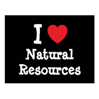 I love Natural Resources heart custom personalized Postcard
