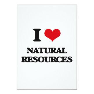 I Love Natural Resources 3.5x5 Paper Invitation Card