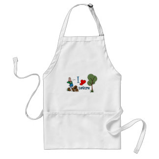 I love nature adult apron