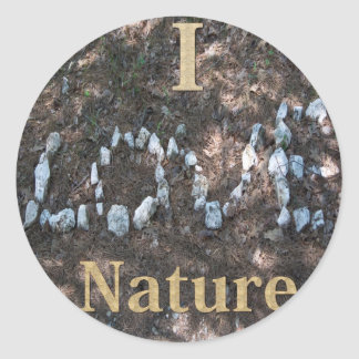 I Love Nature Apparel and Gifts Classic Round Sticker