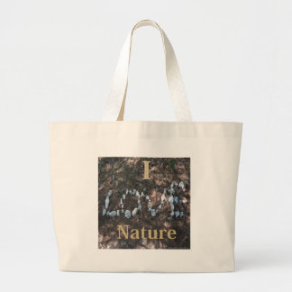 I Love Nature Apparel and Gifts Large Tote Bag