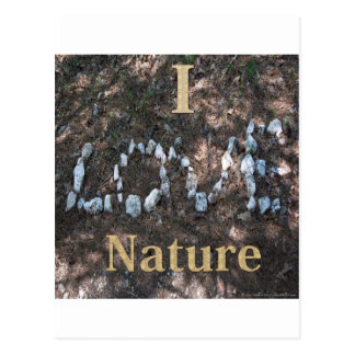 I Love Nature Apparel and Gifts Postcard